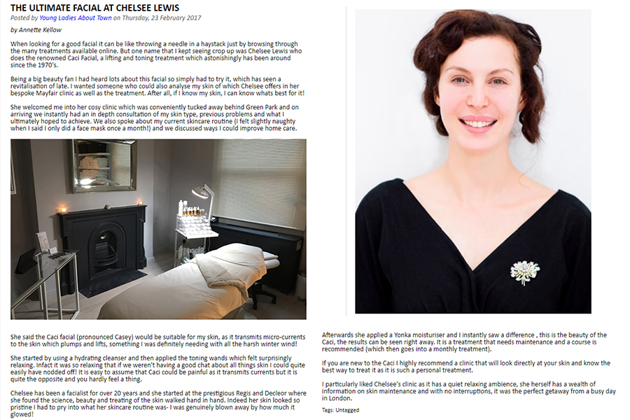 The Ultimate Facial at Chelsee Lewis