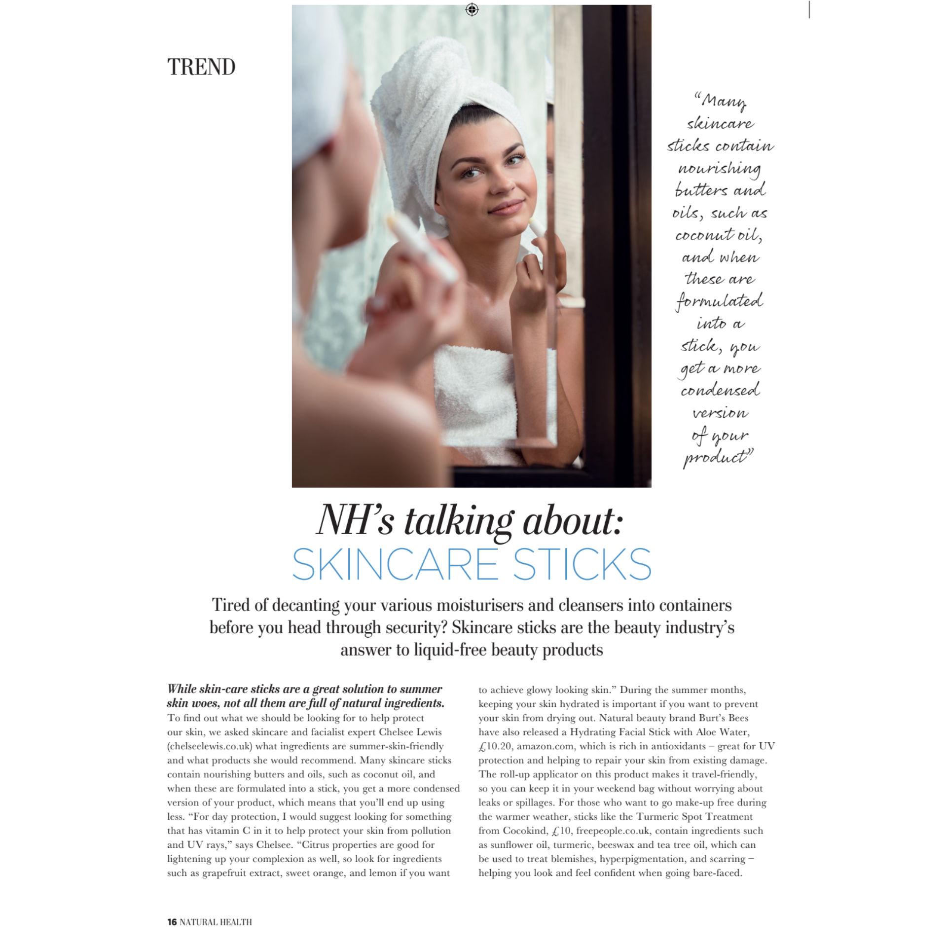 Natural Health Magazine article