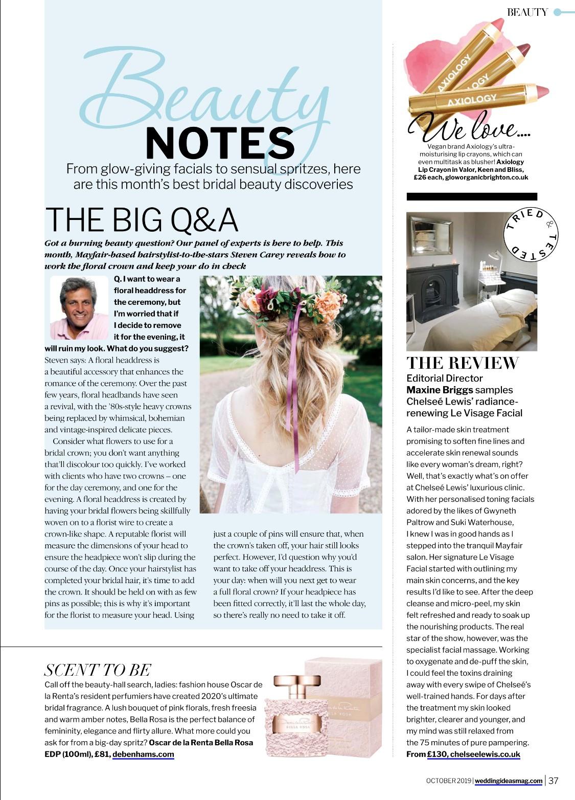 Wedding Ideas Magazine article